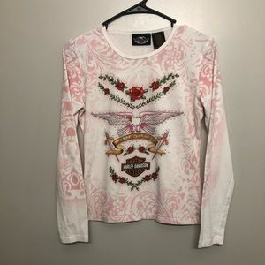 Harley Davidson Eagles& Roses long sleeve shirt